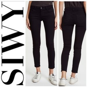 SIWY Black Hannah Slim Crop Jeans